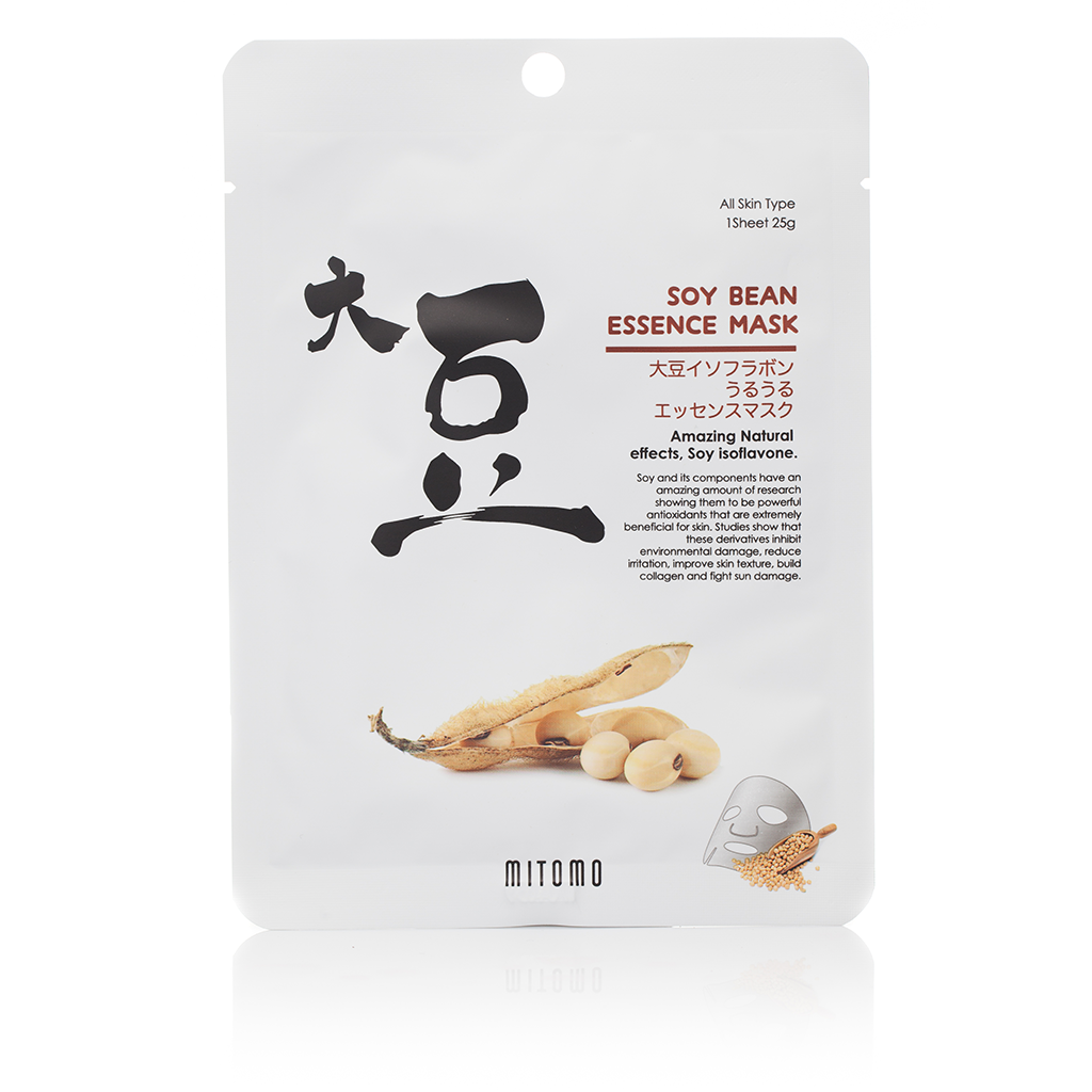 Mitomo SOYBEAN ESSENCE MASK | SKINiD.se