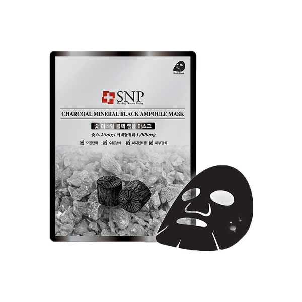 SNP Charcoal Mineral black ampoule mask | SKINiD.se
