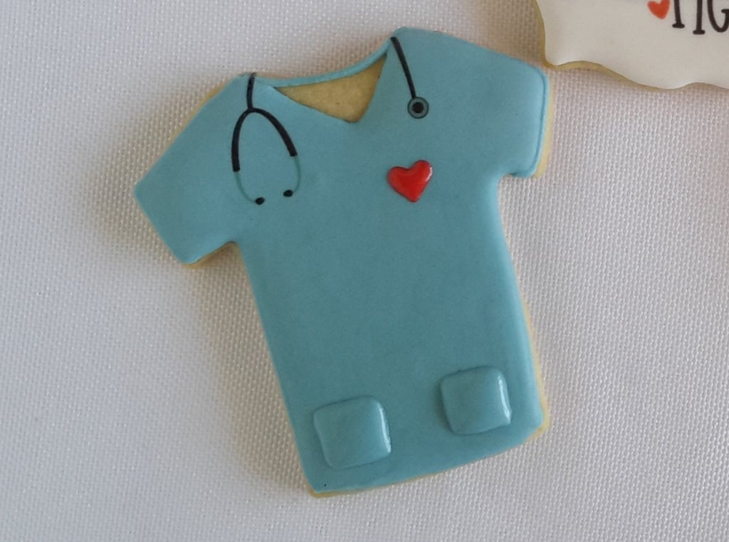 Nurse appreciation, nurse cookies, scrubs cookies, doctor cookies