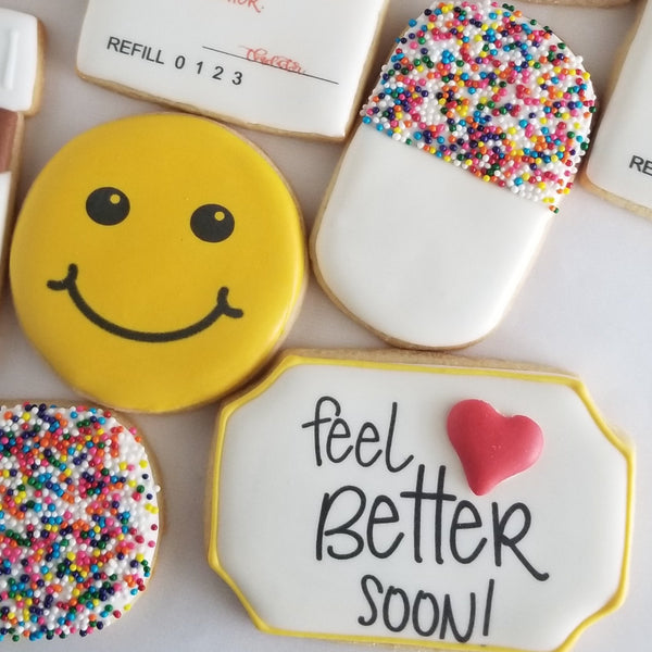 Get well Soon, Feel Better Soon cookies