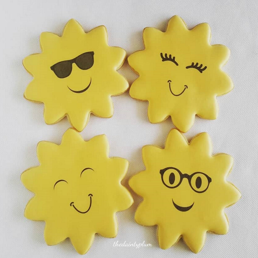 Sunshine Emoji Cookies