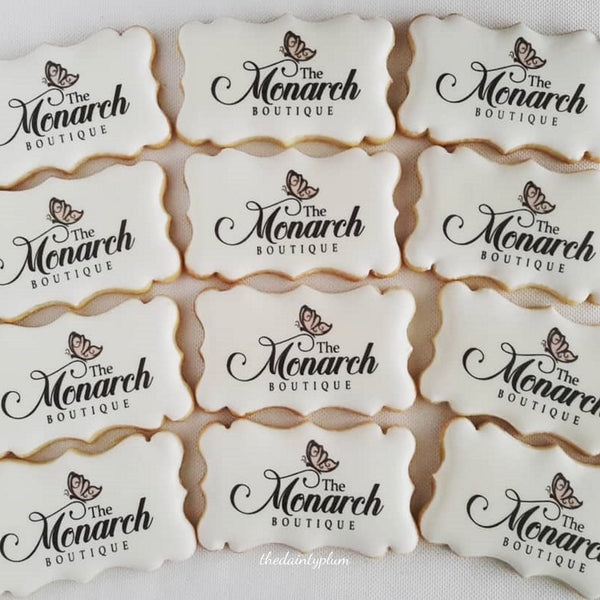 logo cookie plaque, branded cookies, corporate cookies