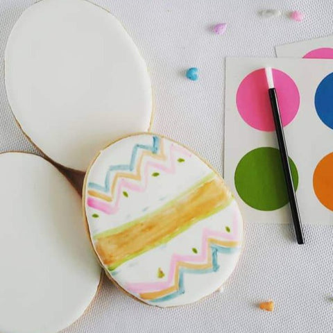 Easter Egg Paint Your Own Cookies, 6 Pcs