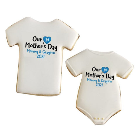 1st mother's day, mother's day tshirt, tshirt cookie, 1st mother's day onesie