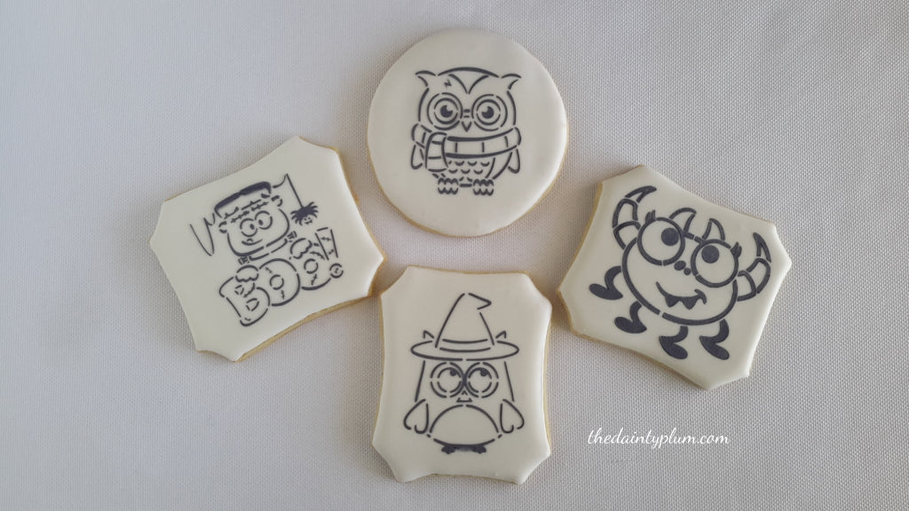 Paint Your Own PYO Halloween Cookies