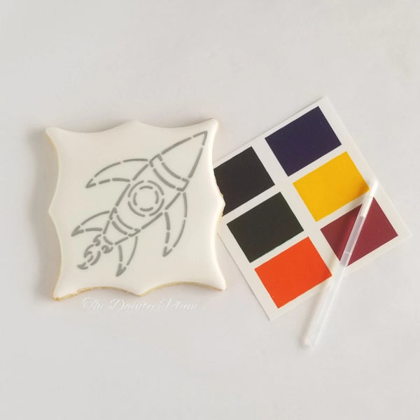 Paint You Own (PYO) Cookies Rocket