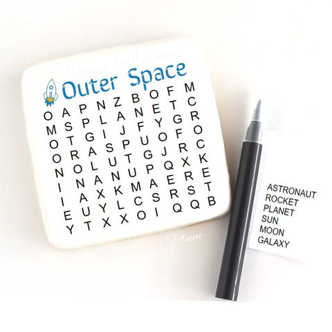 Word Search Cookies outer space
