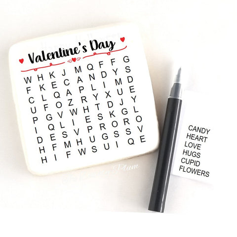 Edible word search cookie valentine's day