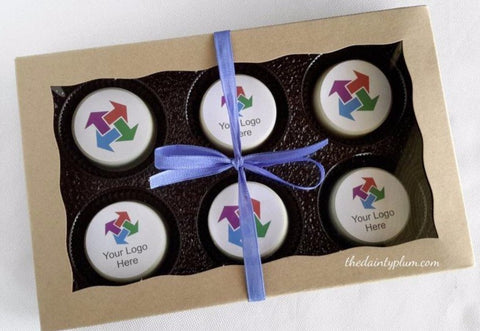 Chocolate Covered Oreo® w/ Logo - 6 Count Gift Box