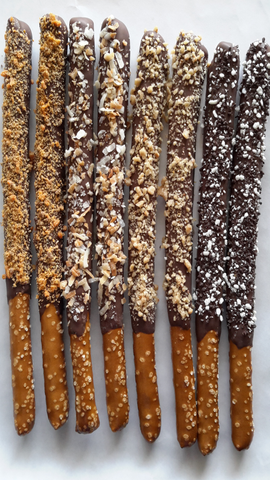 Cookie Candy Chocolate Pretzel Rods - 1 Dozen