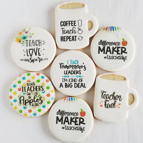 Teacher life cookies, teacher cookies,