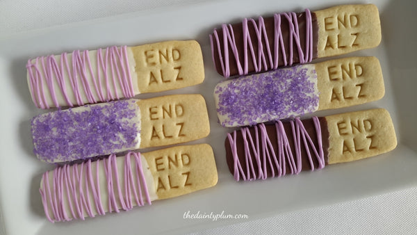 Letter Pressed Cookie Sticks Dipped in Chocolate - 12 pcs