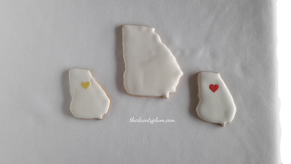 Georgia Cookies w/Hearts (Small) (20 Pcs)