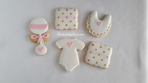 Baby Shower Cookies - 12 Pcs