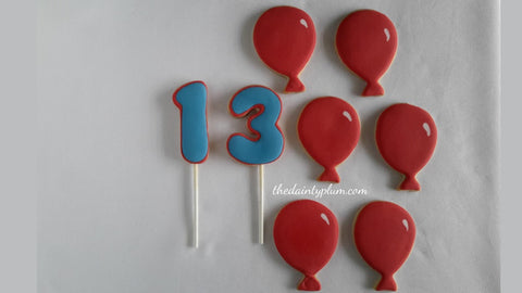 Birthday Balloon Cookies - 12 Pcs