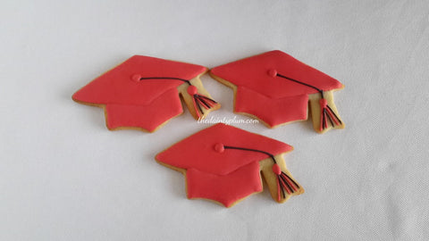 Graduation Cap Cookies - 12 pcs