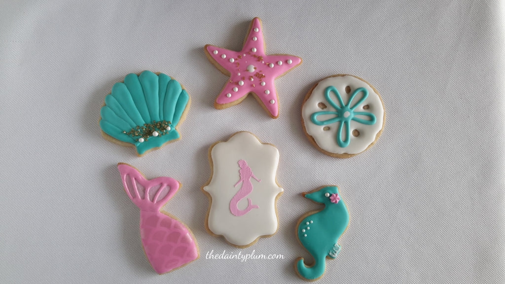Mermaid Cookies - 12 Pcs