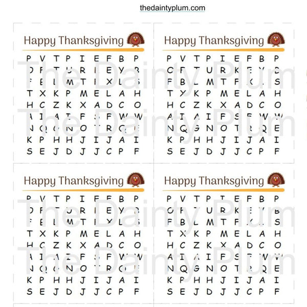 Edible Word Search Printable PDF (Digital Files ONLY)