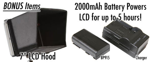 2000mAh battery power for lcd up to 5 hrs