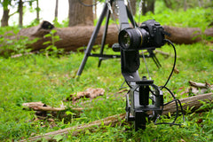 Motorized Pan Tilt Head | TigerTilt mounted to Taurus XL Camera Crane