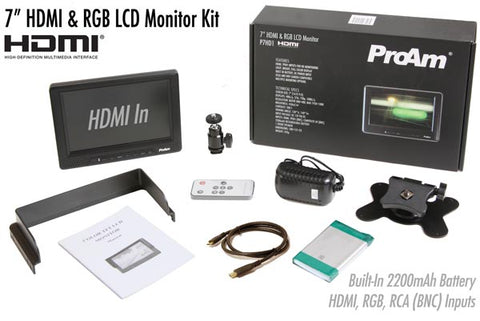 7 inch hdmi & rgb lcd monitor kit