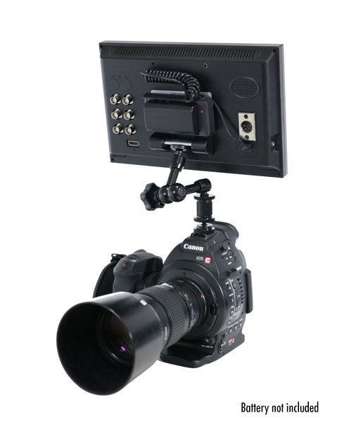P10HDMI 10 inch On Camera LCD Monitor Rear Back Inputs Canon C100