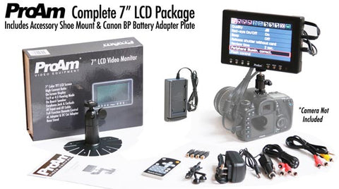 complete 7 inch lcd package