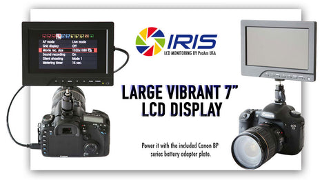 large vibrant 7 inch lcd display