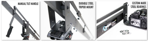 manual tilt,tripod mount & steel bearings