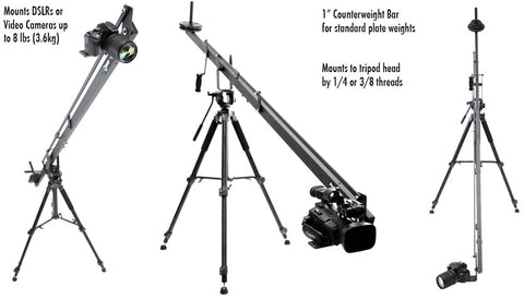 mount dslr,counterweight bar & mount tripod