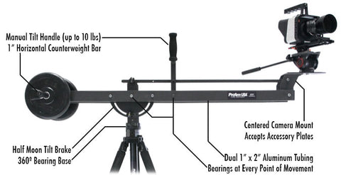 crane for camera with manual tilt