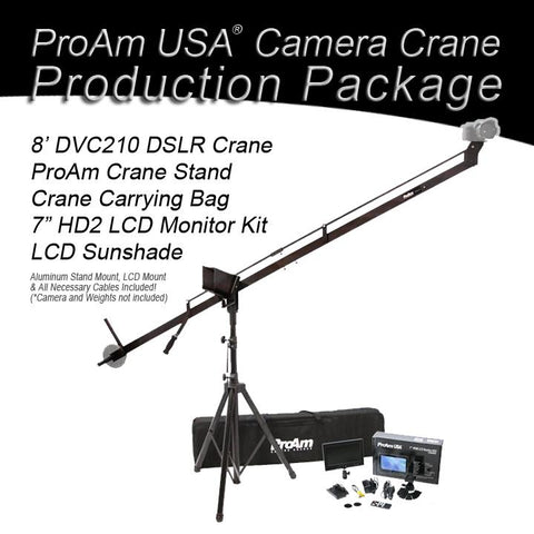 Orion DVC210 8 ft DSLR Camera Crane Production Package by ProAm USA - PRODUCTS