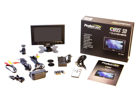 7 Inch Iris SD On-Camera / Crane LCD Monitor Kit (P7SD) - PRODUCTS