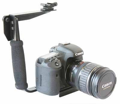 DSLR Handle Grip / Flash Bracket with Accessory Shoe Mount