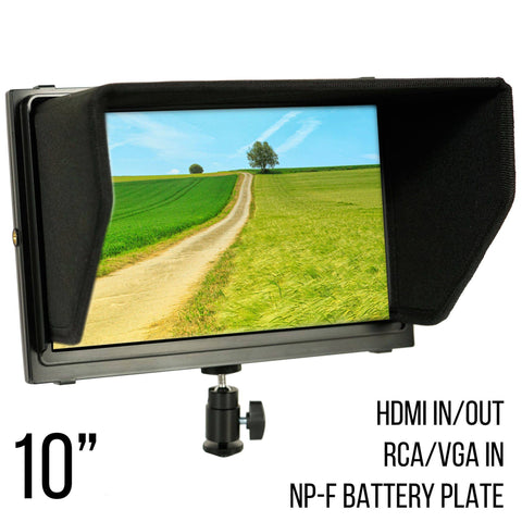 10.1 Inch Iris XL2 Dual HDMI On Camera/Crane LCD Monitor (P10DHD) - PRODUCTS