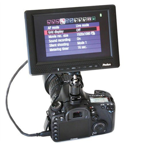 7 Inch Iris Pro 2 1080i/p Compatible HDMI RGB LCD Monitor by ProAm USA (P7HD1)