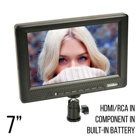 7 Inch Iris Pro 2 DSLR & Mirrorless Compatible HDMI RGB LCD Monitor (P7HD1) - PRODUCTS
