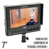 7 Inch Iris Pro HD On Camera/Crane LCD Monitor (P7HD3) - PRODUCTS