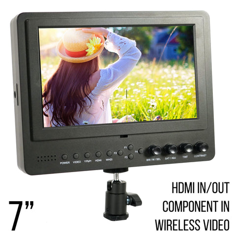 7 Inch Iris Pro Wireless HD On Camera/Crane LCD Monitor (P7WHDI)