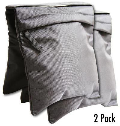 2 Pack Durable Canvas Pro Video Tripod Sandbags Counterweight