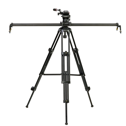 "Complete Kit - Slideways Pro 48"" Slider, Tandem Leg Tripod & Fluid Head - PRODUCTS"