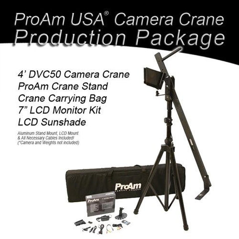 Orion Jr DVC50 4 ft Camera Crane Production Package by ProAm USA