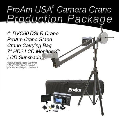 Orion Jr DVC60 4 ft DSLR Camera Crane Production Package by ProAm USA
