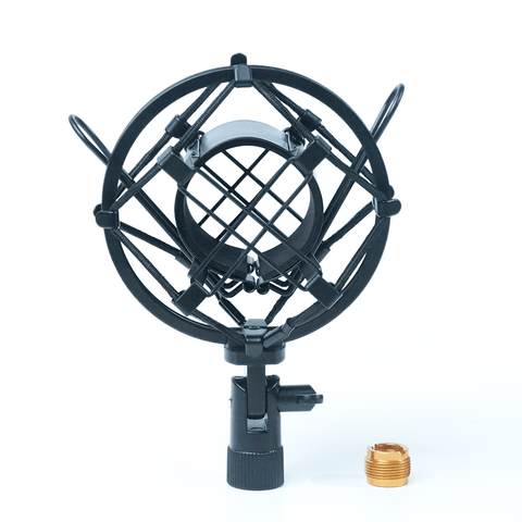 Universal Shock Mount for Shotgun Microphones fits 5/8 and 3/8 Inch Boom Poles