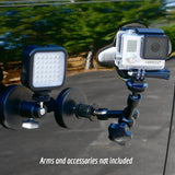 Rubber Coated Filmmaking Vehicle Magnet Mount (2 Pack) -