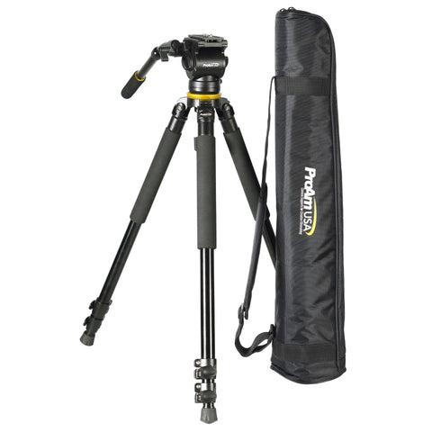 NEW Pro Extendable Leg Bowl Tripod and Dampened Fluid Head Set - PRODUCTS