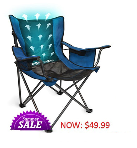 Breezy Buddy Fan-Cooling Camp Chair - Traveling Breeze and Breezy Buddy Fan-Cooled Products