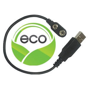 "Eco-Adapter - Convert to USB Power 10"" - Traveling Breeze and Breezy Buddy Fan-Cooled Products"