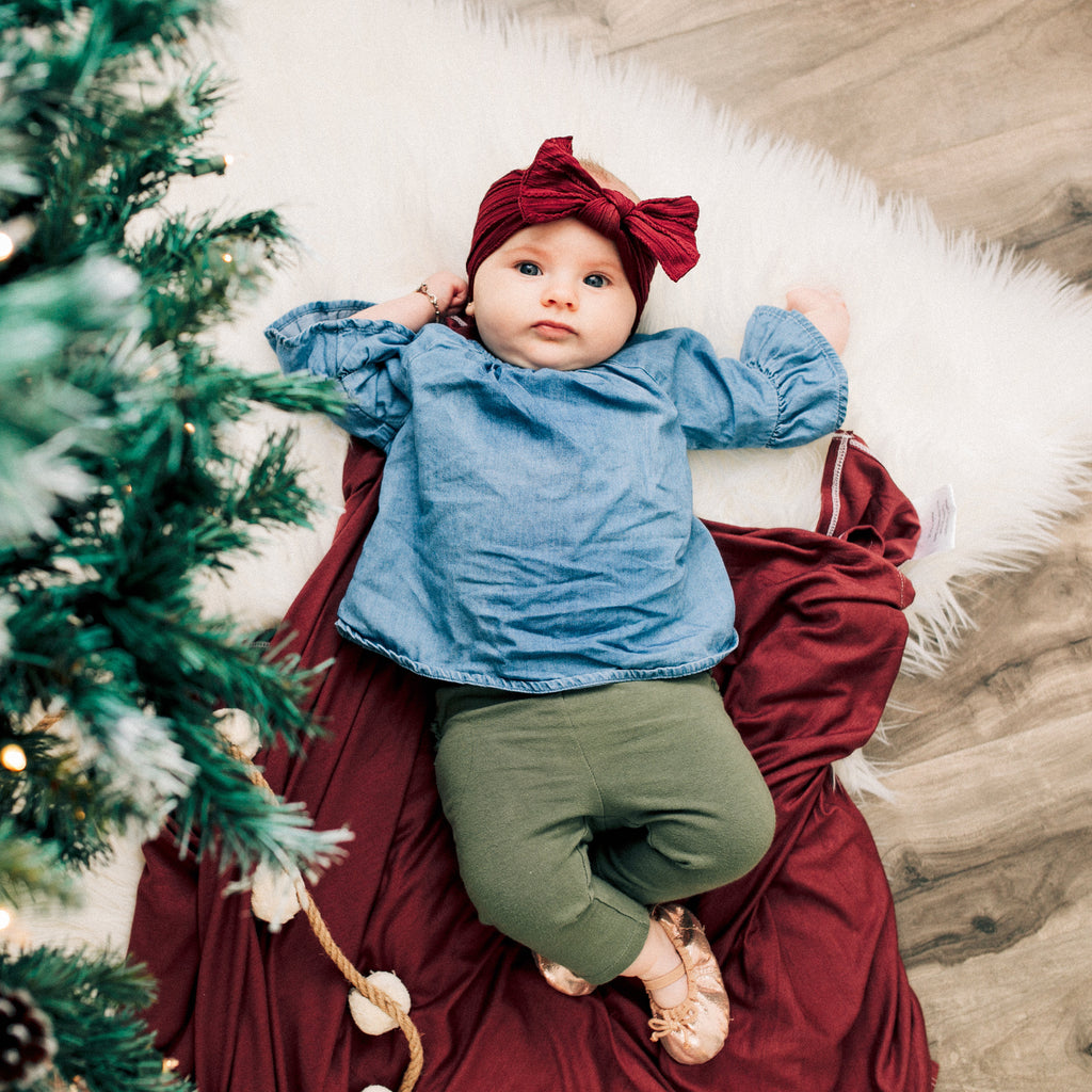 Christmas Baby Swaddle Shoot!