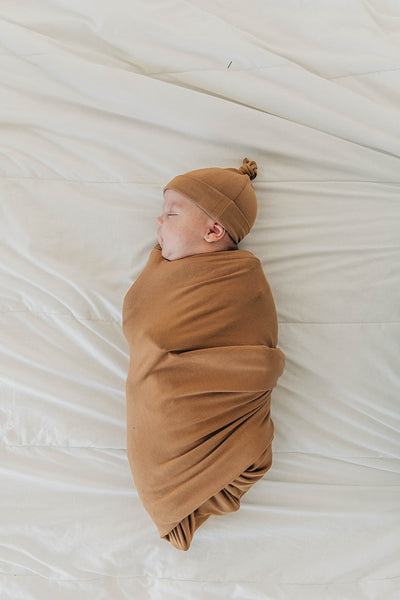 Mebie Baby Mustard Stretch Swaddle